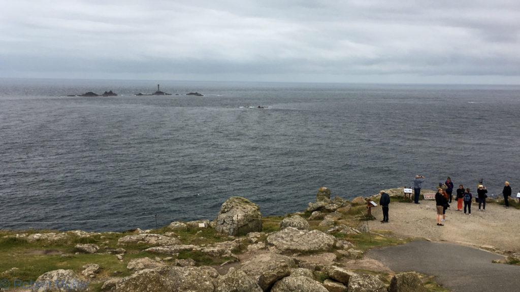 Blick auf Long Ships Lighthouse - Lands End